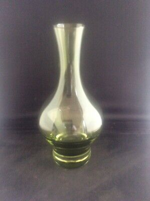 Vintage 1970s Green Scandinavian Art Glass Vase  • 35£