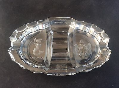 Anglo Dal Ltd Commemorative Glass Ashtray 1939-1964 Warsaw London Coat Of Arms • 65£