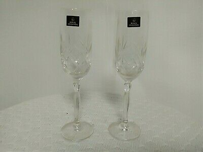 2 Royal Doulton Crystal Champagne Flutes • 32.99£