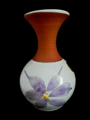 Waterford Irish Pottery Handmade/hand Painted  Initial Signed Small Vase  • 12.99£