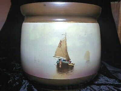 Impressive And Nicely Executed Antique Very Large Bretby Sail Boat Yacht Planter • 42£