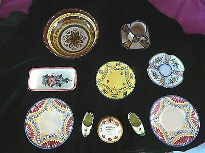 Quimper Pottery - Faience Collection 11 Pieces More Elaborate • 38£