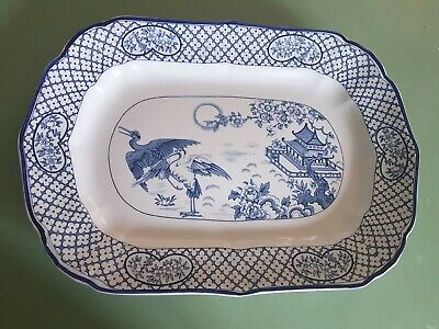 Large Serving Meat Plate B&W Transferware HH&G Orient • 12£