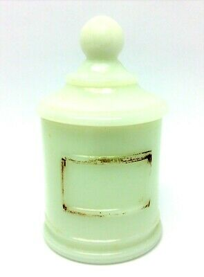 Vintage Used White JV Co Inc Slag Glass Container With Round Top Lid • 80.29£