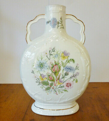 Aynsley ~ Wild Tudor Pattern ~ Dragon Flask Two Handle Vase ~ 7.60  • 9.99£