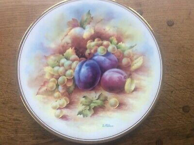 Royal Vale Fruit Plate Plums & Grapes Signed By Royal Worcester Artist D Wallace • 12.99£