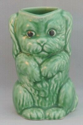Sylvac Falcon Ware Green Art Deco Dog Jug 45 - 12.5cm Tall • 30£