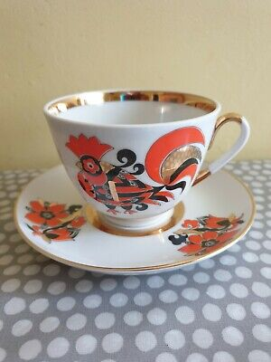 Vintage Russian Imperial Porcelain Tea Cup And Saucer • 24£
