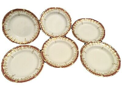 """Set Of Six Matching KPM  Berlin  7"""" Inches Cabinet/Salad/side Plates • 150£"""