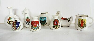Arcadian Vintage Crested Ware China- Small Collection Of 8 (eight)  Vgc • 7.99£