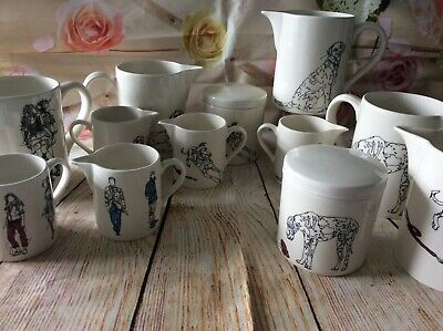 Emma Cowlam - Creamics - Line Drawings -  Dogs - People - Jugs Containers • 9£