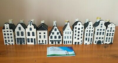 10 X KLM Bols Blue Delft Houses And Booklet Showing Nos.1-90 • 22£
