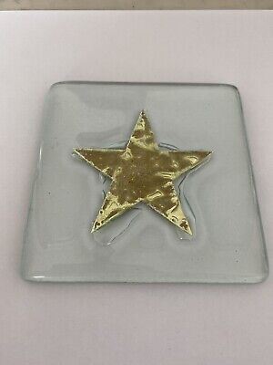 Jo Downs Glass Gold Star Coaster • 5£