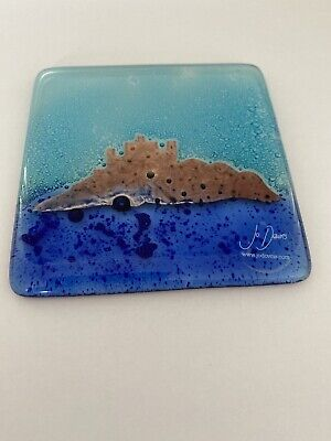 Jo Downs Rare Glass St Michaels Mount Coaster  • 10£