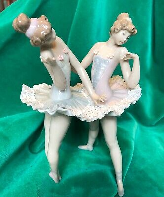 Lladro Two Ballet Porcelain Figurines • 16£