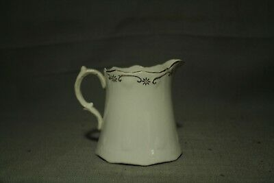 Antique Old Victorian Style Creamer Small Pitcher White Gold Decoration 3 1/2  • 16.14£