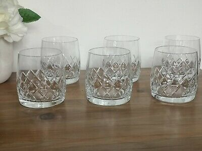 6 X Fine Crystal Bohemia Crystal Tumblers Whisky Drinking Glasses  • 21.99£
