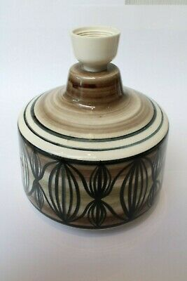 Rare Original Retro Jersey Pottery  Sliced Onion  Table/Bedside Lamp Base • 17£