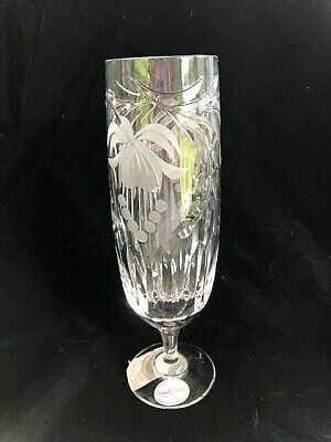 INCREDIBLY RARE NEW ROYAL BRIERLEY FUCHSIA CRYSTAL PILSNER GLASS  (10 Available) • 35£