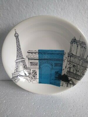 Poole Pottery Bowl Cities In Sketch Paris Andrew Tanner Dish • 7.50£
