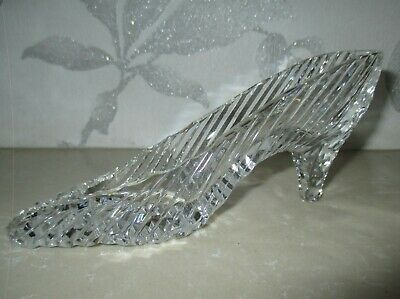 Tipperary Irish Large Crystal Glass Cinderella Slipper/shoe. Good Condition. • 9£
