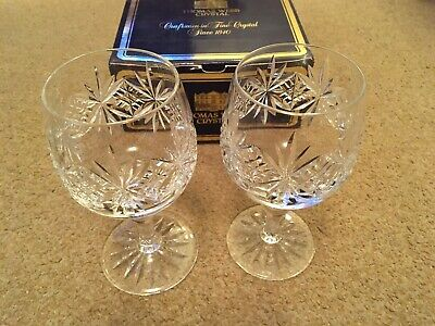 Thomas Webb Crystal Regency Pattern Pair Of White Wine Glasses (Original Box) • 5£