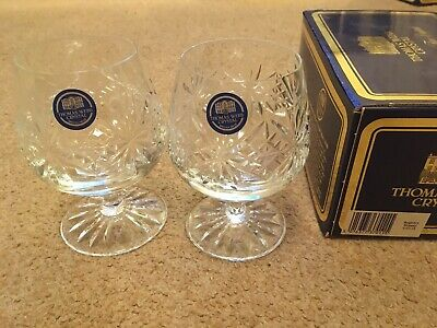 Thomas Webb Crystal Regency Pattern Pair Of Brandy Glasses (Original Box) • 5£