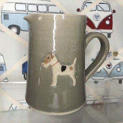 Beautiful Hogben Pottery Fox Terrier Small Jug Excellent Condition • 25£