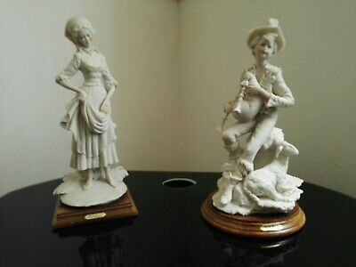 Two Large Signed A Balcari Figures Capodimonte Lady And Shepherd Lovely Detail  • 16£