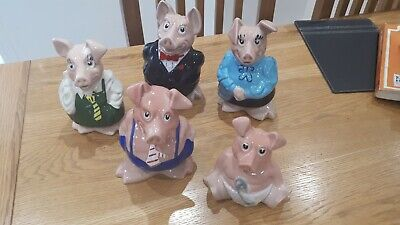 NatWest Pigs - Full Set - Wade - Original Stoppers • 40£