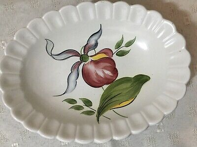 Radford England Handpainted Footed Pottery Oval Dish. • 9.99£