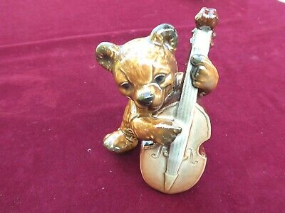 Rare Goebel Bear Playing The Double Bass • 22£