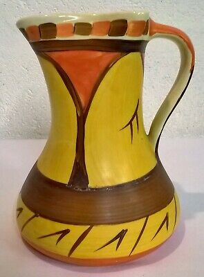Art Deco Myott Son & Co Large Water Jug 1930's No. H8319 Hand Painted Vintage • 14£