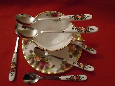 Old Country Roses  SET OF 6 GOOD MATCH SPOONS • 10£
