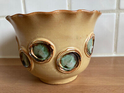 Vintage Italian Plant Pot Holder - Beautifully Decorated  - Height ~4  • 4.50£