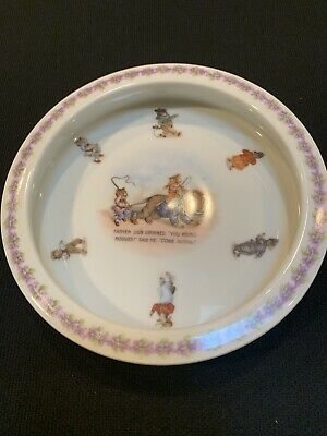 Antique Germany Baby Feeding Bowl With Animals • 26.70£