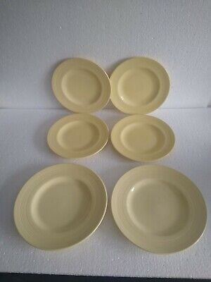Woods Ware Jasmine Side Plates X6, 2 Sizes 6 & 7 Inch Diameter, Vintage Plates  • 7£
