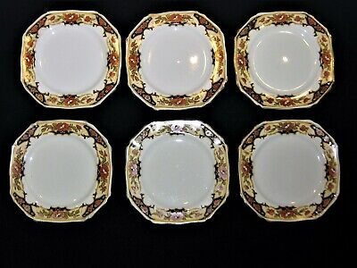 6 X Vintage Alfred Meakin Harmony Art Deco Dunkirk 6.5  Square Bread And Butter  • 12.50£