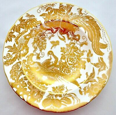 Royal Crown Derby *gold Aves* A.1235 Rimmed Soup Bowl - '1st' Quality • 75£