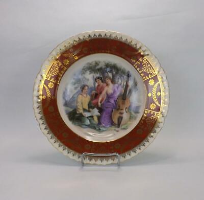 Antique Imperial Russian Porcelain Romantic Scene Plate By Kuznetsov Factory. • 150£