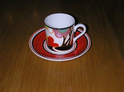 Amazing Hand Painted Clarice Cliff Autumn Design Cup And Saucer +cert+box • 22£