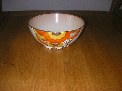 Beautiful Clarice Cliff Hand Painted Rhodanthe Fruit Bowl In Mint Condition • 80£