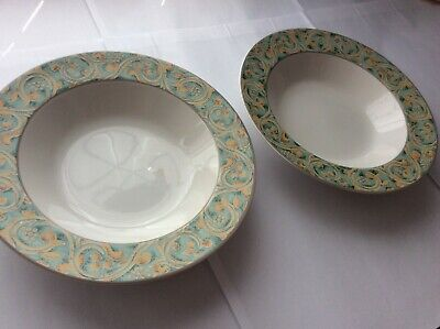 Bhs Valencia Wide Rimmed Bowls X 2 Soup Or Pasta (002) • 11.99£