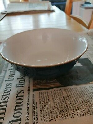 Denby Imperial Blue Cereal Bowl, Used. Unmarked. • 6.50£
