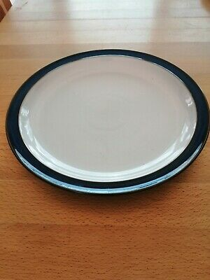 DENBY IMPERIAL BLUE COUPE DINNER PLATE {26 CM} Used. Unmarked. • 5£