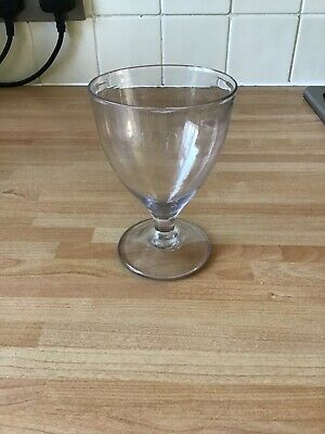 Antique Hand Blown Rummer Glass Engraved With Initials Rough Pontil • 12£