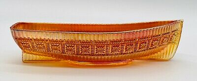 Large Fenton Carnival Glass Canoe / Boat / Rowing Boat 12 Inches • 28£