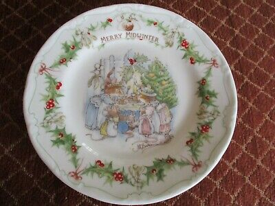 Royal Doulton Brambly Hedge 6.5  Merry Midwinter Plate • 20£