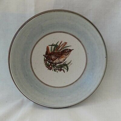 Purbeck Pottery. Bird Decorated Dish. • 4.99£