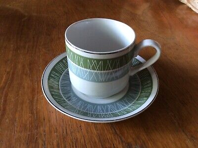 Midwinter Fine Shape Coffee Cup And Saucer Whitehill Pattern England • 10£